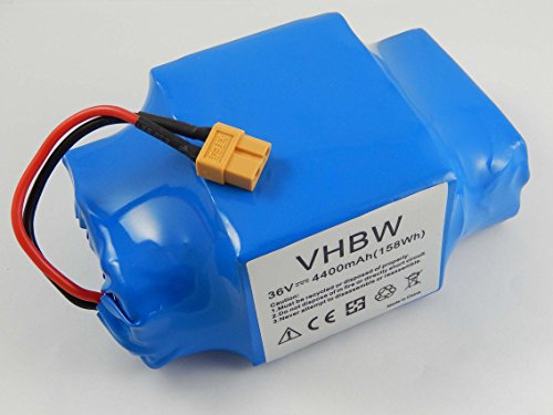 vhbw Akku 36V passend für Diverse Hoverboards, Balance-Boards, Segways z.B. von Gyropode, Viron, Razor, Caterpillar (4400mAh, Li-Ion)