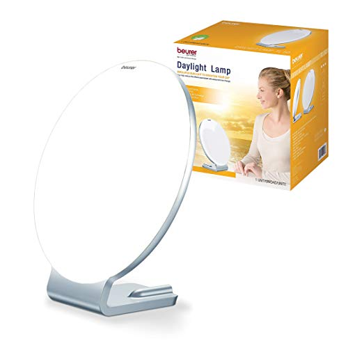 Beurer TL50 Daylight Lamp | UV-free Lamp with Natural Bright Sun Light | Jet Lag Lamp | Full Spectrum, 10,000 lux LED | Big Surfaced Daylight for Home & Office