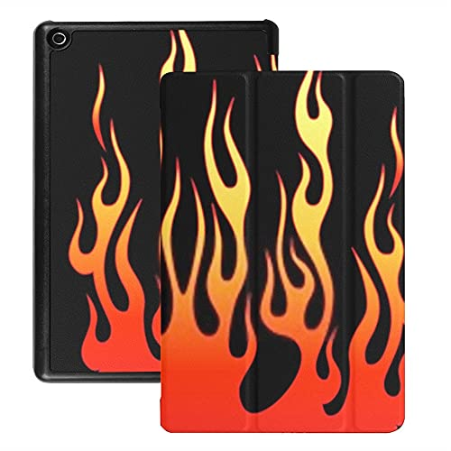 Funda para Tableta Fire HD 8 (versión 2018/2017/2016), Funda para Coche con Tatuaje Tribal Flame Vector Fire con activación/suspensión automática