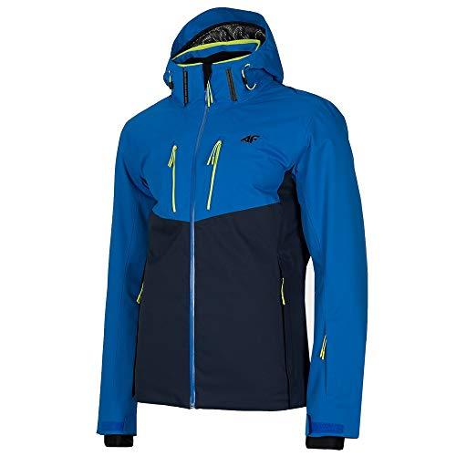 4F Herren Primaloft Dermizax Ski Winter Bergtouren Kletter Wander Jacke blaumarine Neongruen Größe XL