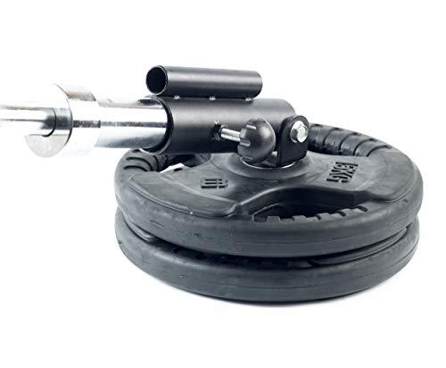 Vida Fitness Plataforma para Remo con Barra T Landmine. Accesorio de Inserción en Extremo de Barra Olímpica de 2' y Estándar de 1'. Incluye Bloqueador de Barra