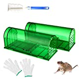 LMLMD Humane Mouse Trap 2 Pack, Reusable Rodent Trap 20cm Large, Mice Catcher
