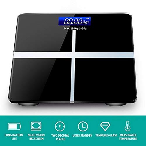 Mdsfe Neue Körperfettwaage Boden Wissenschaftliche intelligente elektronische LED Digitalgewicht Badezimmer Balance Bluetooth APP Android oder IOS Bluetooth - Normal 5