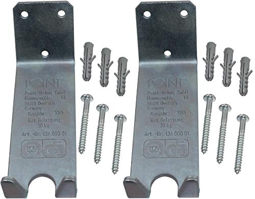 P4B | 2x Wandhalter für Fahrräder - Pedaleinhängung | Mit Schrauben und Dübeln | Sehr stabil | Verzinkter Stahl