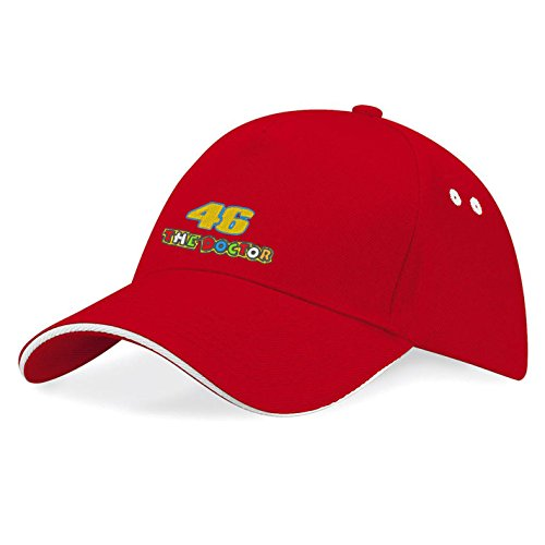 caprica91 46 The Doctor Valentino Rossi Pilot - Gorra de béisbol bordada, color rojo