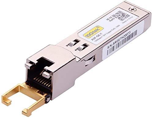 『1.25G SFP-T, 1000Base-T カッパーSFP, SFP to RJ45 SFP, 光トランシーバ, Cisco GLC-T/SFP-GE-T、Meraki MA-SFP-1GB-TX、Netgear、Ubiquiti UF-RJ45-1G、D-Link、Supermicro、TP-Link、Broadcomなど互換』の1枚目の画像