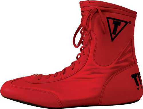 TITLE Lo-Top Boxing Shoes Red