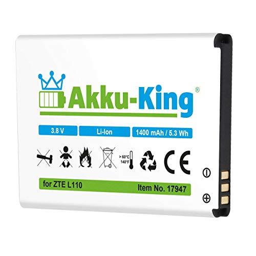 Akku-King Akku kompatibel mit ZTE Li3814T43P3h634445 - Li-Ion 1400mAh - für Blade L110, L110 Dual SIM