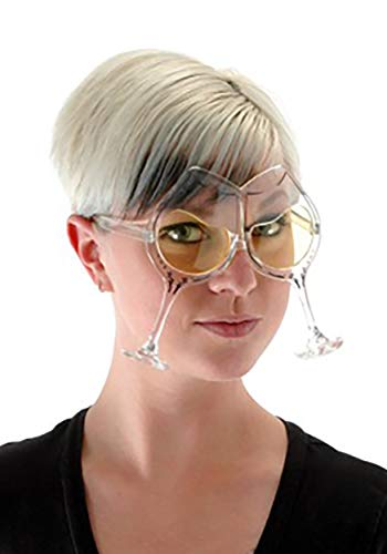 White Wine Costume Party Glasses for Adults