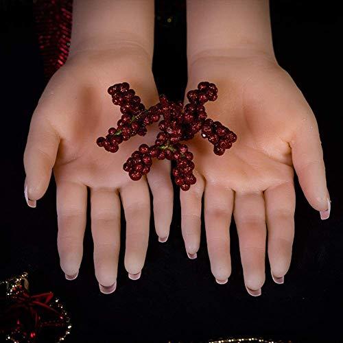 RYZY 1 Paar Kunsthand, Silikon, für Tattoos, Handpuppe für Damen, Modell für Maniküre, die Finger können gefaltet Werden