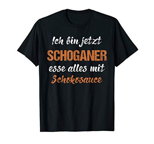 Schoganer Alles Mit Schokoladensauce Witzige Spruch Vintage T-Shirt