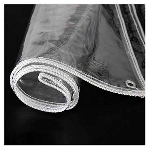 Lona Alquitranada Protección Lona De Protección Paño Impermeable Super Transparente Los 0.3Mm Película Suave Linóleo Paño Impermeable Balcón Patio Cortina De Lluvia Vidrio Blando,White-0.9×1.4m