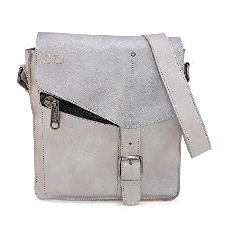 Bed|Stu Women's Venice Beach Leather Bag (Grey Rustic Silver Metallic)
