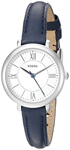 Fossil Damenuhr Leder/Sonstige analog Quarzwerk Leder ES3935