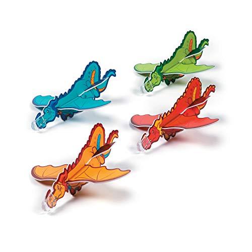 cama24com Drachen Styroporflieger Gleitflugzeuge Mitgebsel 6 Stück Kindergeburtstag Giveaways Mottoparty mit Palandi® Sticker