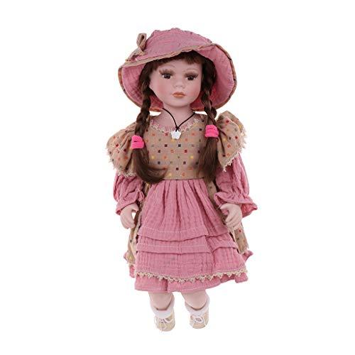 SM SunniMix Bambola di Porcellana Vintage da 16 Pollici in Abito, Regalo Creativo Valentin per Ragazza, Collezione di Decorazioni per La Visualizzazione della CAS - #2