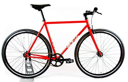 Red SONA Originele Single Speed Fixed Gear Klein 52 cm | Urban Commuter City Fixie Bike |Ontworpen & Handgebouwd in Dublin|Flip Flop Bike Hub | Vast wiel & Vrij wiel