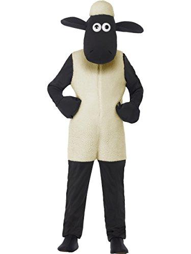 Smiffys Kinder Unisex Shaun das Schaf Kostüm, Jumpsuit und Kopfteil, Größe: M, 20607