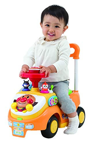 Anpanman Acquisitive Busy Car, With Push Rod & Guard (Updated)