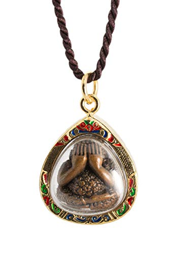 The Weeping Buddha Golden Amulet Thai Buddha Amulet Pendant