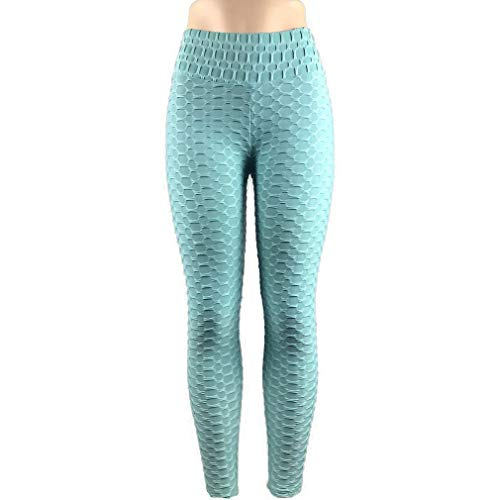 Europa en de Verenigde Staten ademend hip zweet sport fitness yoga legging slanke skinny yoga broek dames (blauw)