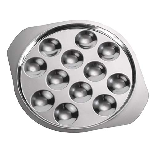 Cabilock Plato para caracoles – 12 agujeros, plato de conchas para cenar, caracoles para cocinar, 1 unidad