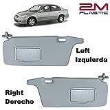 Sun Visor for Honda Civic 2001 2002 2003 2004 2005 Left + Right Pair Driver + Passenger Sides Gray 2MPLASTIC