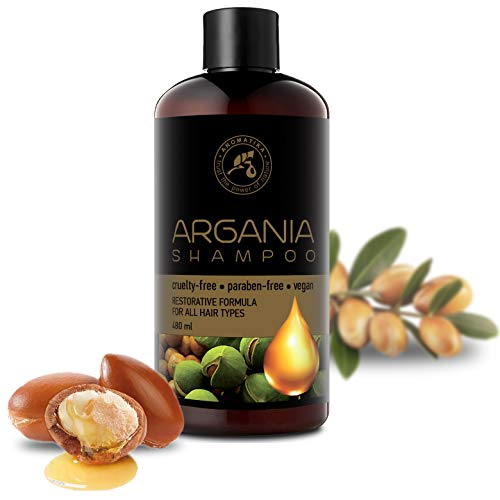 Aceite de Argan 480ml - Shampoo con Aceite de Argán Natural y Extractos de Hierbas - para Todo Tipo...