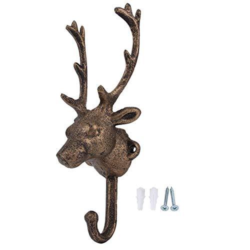 Hertenkop wandhaak, decoratie, rustieke boerderij, unieke kleerhanger, moderne decoratie voor Valentijnsdag, voor hoed, handtas, sleutelmantel ect