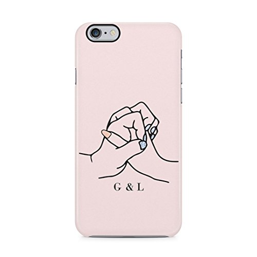 Personalised Custom Text Best Friend Initials Love Besfriend Forever Protective Hard Plastic Case Cover For iPhone 6/iPhone 6s Carcasa