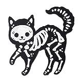 Humano costilla jaula esqueleto gato hueso gótico Punk Broches solapa Pin
