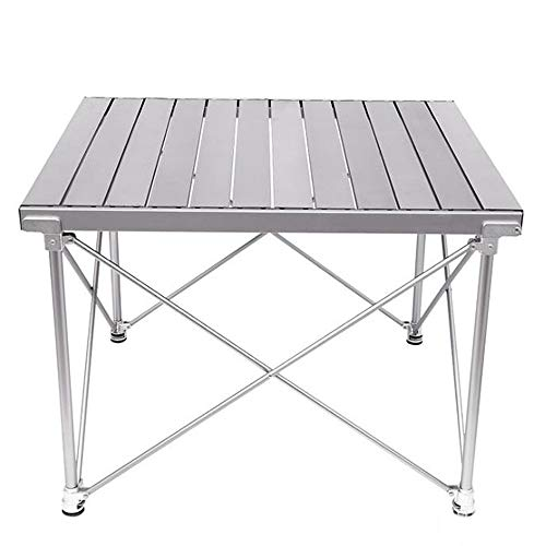 smzzz Lightweight Small Folding Camping Table,Compact Folding Table Built...