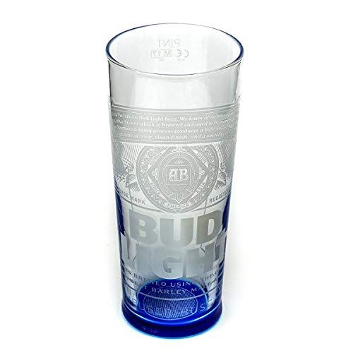 Tuff Luv Original Verre à Bière Bud Light de Marque - Verre Chalice Pinte (570 ML - 20 oz)