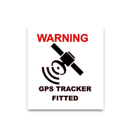 Auto Venster Sticker muur Art Decal GPS Waarschuwing Tracker Fitted Auto Sticker Decals PVC Actief Opvallende 9.3X10.2Cm