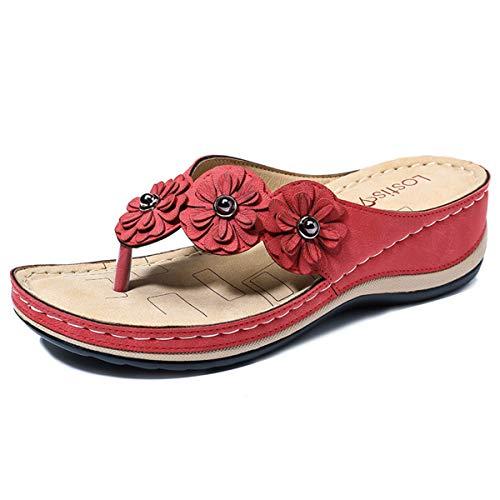 gracosy Chanclas para Mujer Verano Zuecos Zapatillas Playa Planos Zapatos Antideslizantes Sandalias Suela Cómoda Suave Negro
