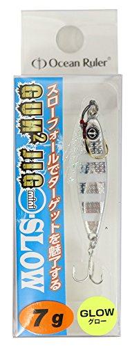 OceanRuler(オーシャンルーラー) メタルジグ ガンガンジグミニ スロー 7g ゼブラグロー ルアー