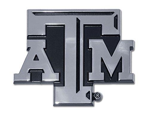 Texas A&M University Aggies NCAA College Chrome Plated Premium Metal Car Truck Motorcycle Emblem