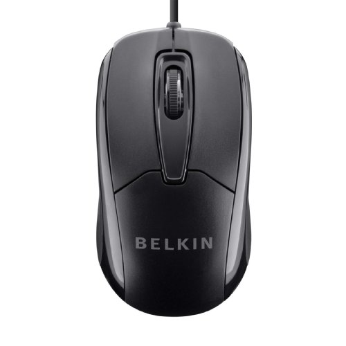 Belkin 3-Button Wired USB Optical Mouse with 5-Foot Cord,...