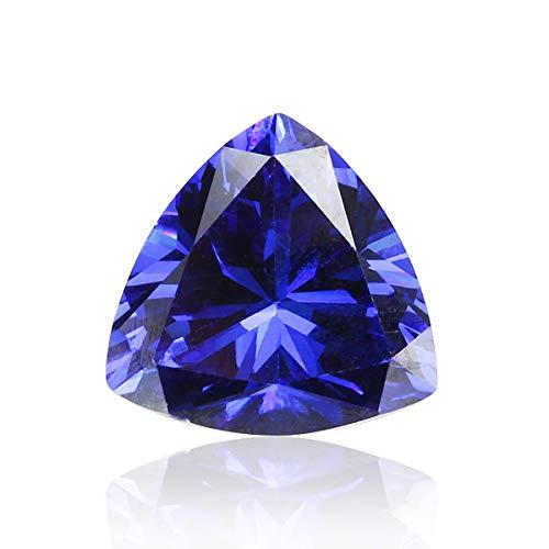 RanDal Aaaaa + Triángulo Azul Brillante Corte Piedras Preciosas Circón Sin Calefacción 11.20Ct 12X12Mm Decoraciones De Joyería