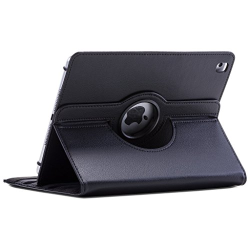 Apple Black 360 Degree Rotation Full Sleep Wake Function PU Leather Wallet Flip Case Cover For the For iPad2/3/4 Model 2011-2012 A1395, A1416, A1403, A1430, A1458,A1459, A1460