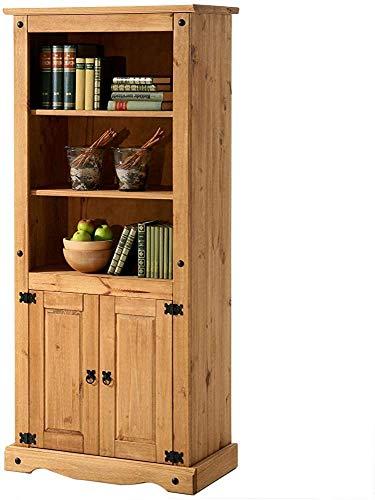 Estantería cera de madera maciza de roble completa plataforma armario lateral comida es perfecto para la decoración de su restaurante, sala de estar, cocina o el dormitorio,Brown