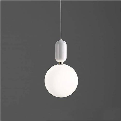Lustre simple simple nordique, lampe de table de bar de balcon moderne, lustre de chambre à coucher, lampe de salle à hommeger décorative en verre (Couleur   blanc-XS)