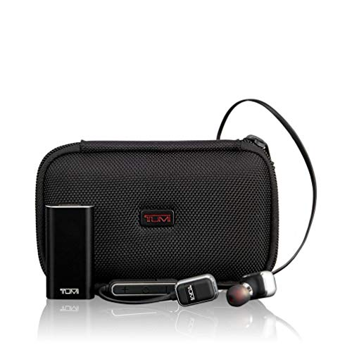 TUMI - Wireless Earbuds Headphones - Bluetooth in Ear Crisp Sound, 25 HR Playtime, 500mAh Battery Bank - Black/Gunmetal