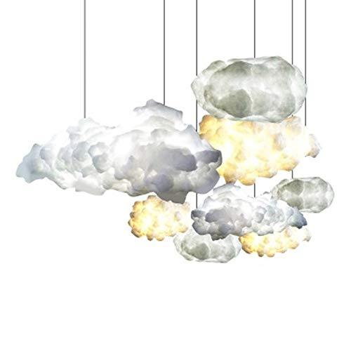 Arsezon 50CM LED Cloud Pendant Light Cotton Floating Cloud Lamp Creative Decorations Cloud Lamp Thunderstorm
