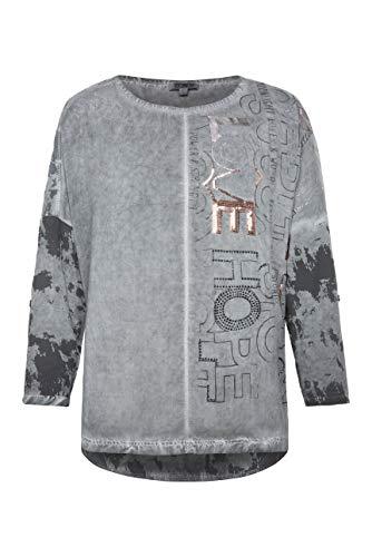 SOCCX Damen Blusen-Shirt Oil Dyed mit Artwork-Design