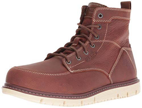 KEEN Utility Men's San Jose 6' Soft Toe Wedge Work Boot,Gingerbread Brown/Off White,11D