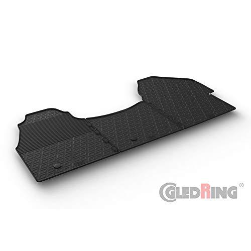 Black Nylon Carpet Coverking Custom Fit Front Floor Mats for Select Audi A8 Models