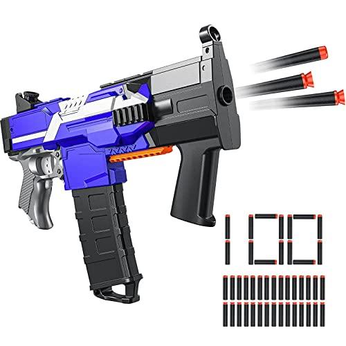 Elektrische Spielzeug Pistole für Nerf Gun, Automatische Blaster groß mit 100 Munition, 3 Modi Schuss USB Aufladbare Kinder Gewehr, Schießspielzeug für Junge Jungendliche Erwachsene Geschenkideen
