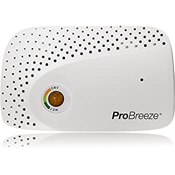 Pro Breeze Renewable Cordless Mini Dehumidifier – for Small Spaces - Gun Safe, Wardrobe, Cabinets and Closets – Non-Toxic Rechargeable Dehumidifier