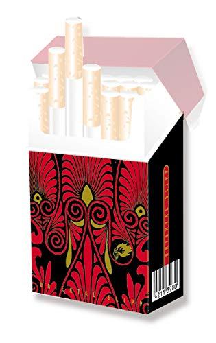 Zigarettenschachtel Box Überzieher aus Karton ohne Deckel - INDO SLIPP (035 Ornament, 1 Stück)
